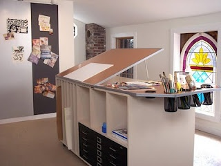 From a blog; desk idea/storage...