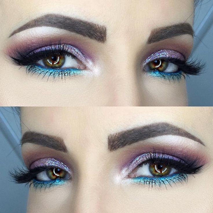 Makeup Geek Eyeshadows in Burlesque, Corrupt, Poppy and Simply Marlena + Makeup Geek Foiled Eyeshadows in Starry Eyed and Pegasus. Look by: caprisssmakeup