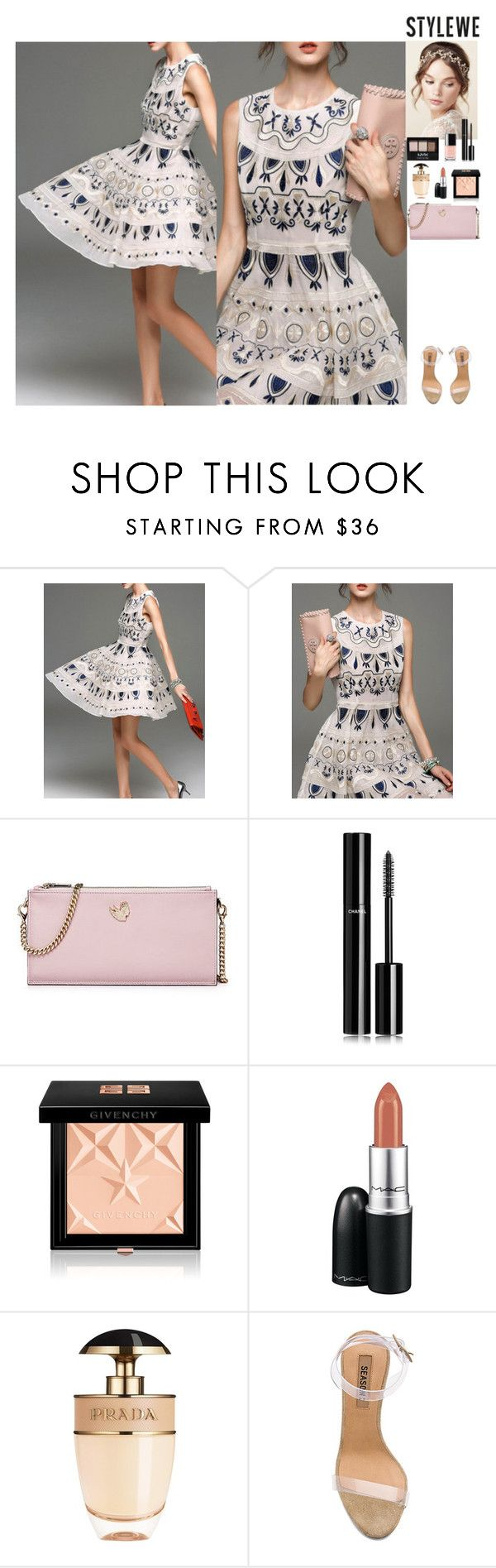 Outfit StyleWe by eliza-redkina on Polyvore featuring мода, YEEZY Season 2, Givenchy, MAC Cosmetics, Chanel, Prada, NYX, outfit, like and look