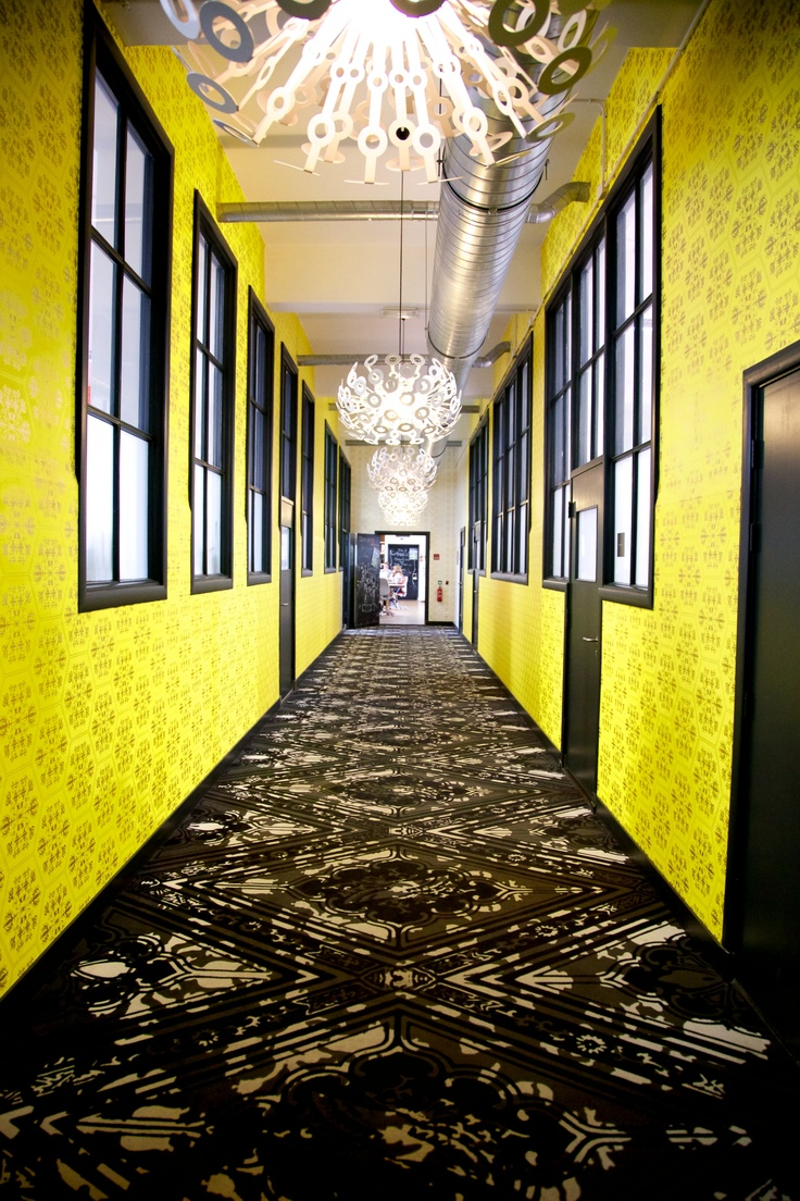 Hallway in the Westerhuis, an office building in the Jordaan, Amsterdam. Designed by Marcel Wanders, this super stylistic building is a wonderful example on contemporary Dutch design and architecture.