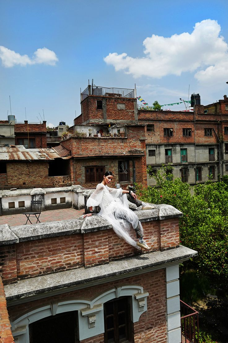 Amidst a bustling and chaotic Patan Durbar Square in Lalitpur Kathmandu, there is a plenty of charm waiting to be uncovered. Set against this thriving social and cultural centre, Nepali native (and Asia's Next Top Model Cycle 1 contestant), Aastha Pokharel rediscovers her city in pre-fall 2016's most delicate silhouettes