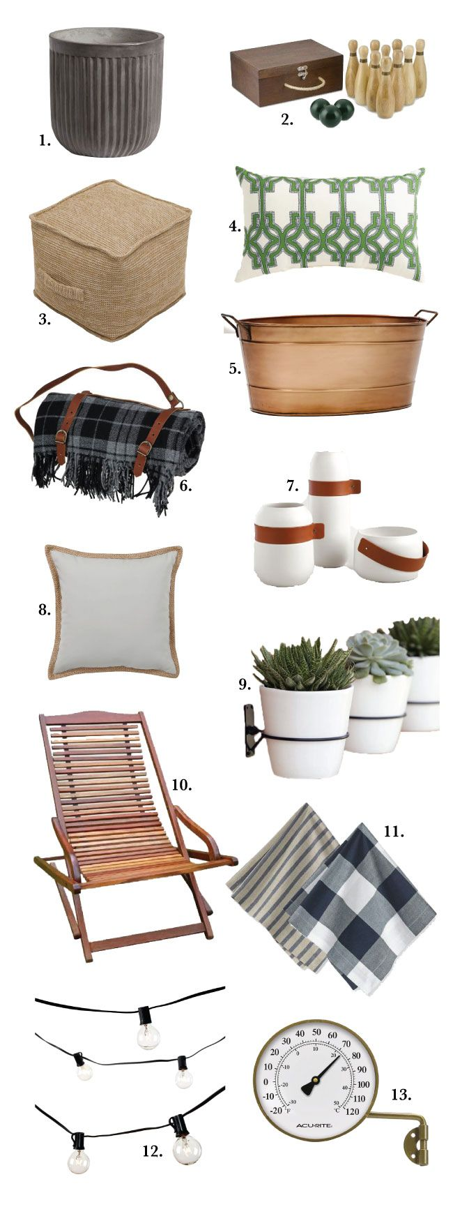 13 Things To Add to Your Outdoor Space this Summer | Chris Loves Julia