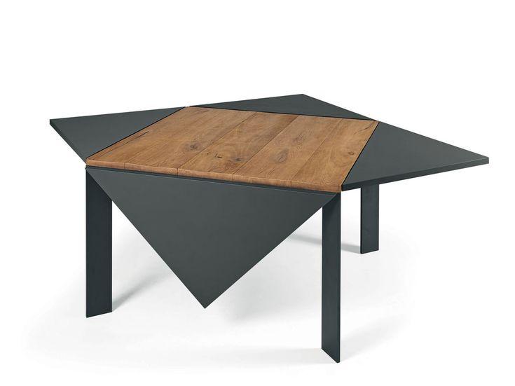 Tavolo quadrato in legno LOTO by Lago design Franco Lago