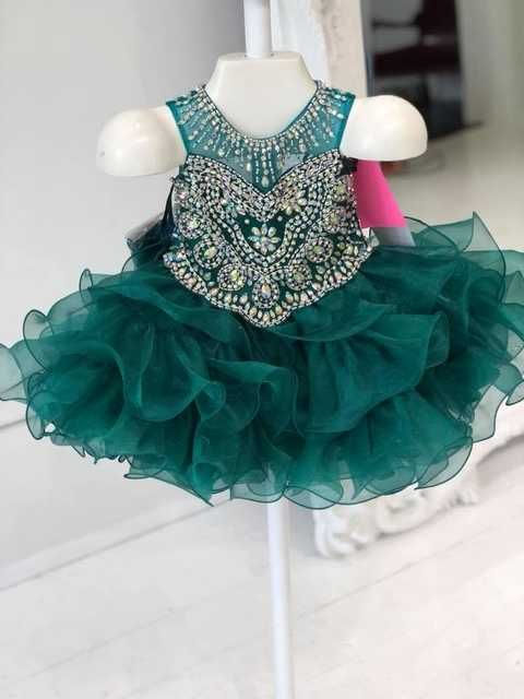 14d2d22d5 Cupcake Little Girls Pageant Dresses 2019 Hunter Glitz Pageant Gowns ...