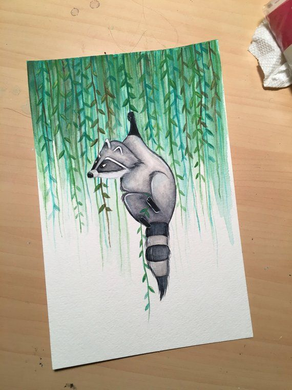 Meeko Watercolor Painting – Disney's Pocahontas – Print