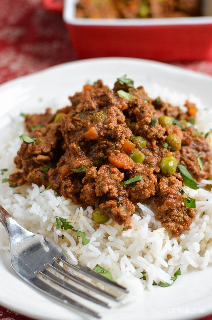Slimming Eats Syn Free Keema Curry - gluten free, dairy free, whole30, paleo, Instant Pot, Slimming World and Weight Watchers friendly
