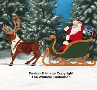 Realistic Santa & Reindeer Pattern Set