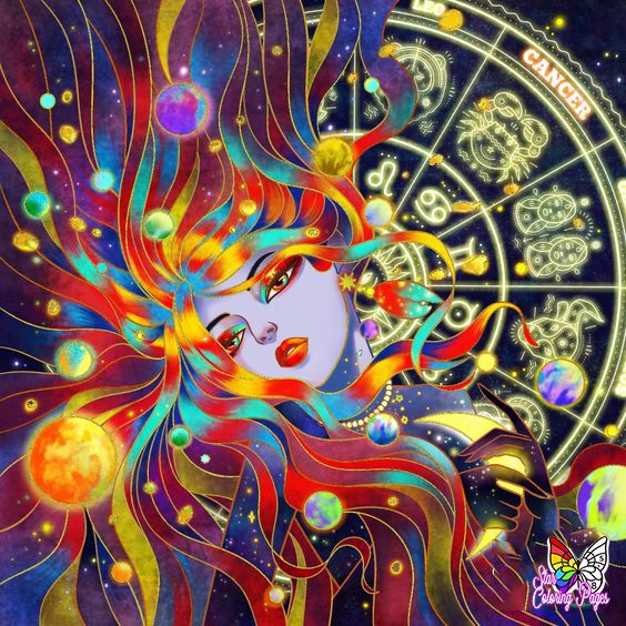 Zodiac Colorbynumber For Grown Ups Free And Printable Astrology Art Painting Star Coloring Pages