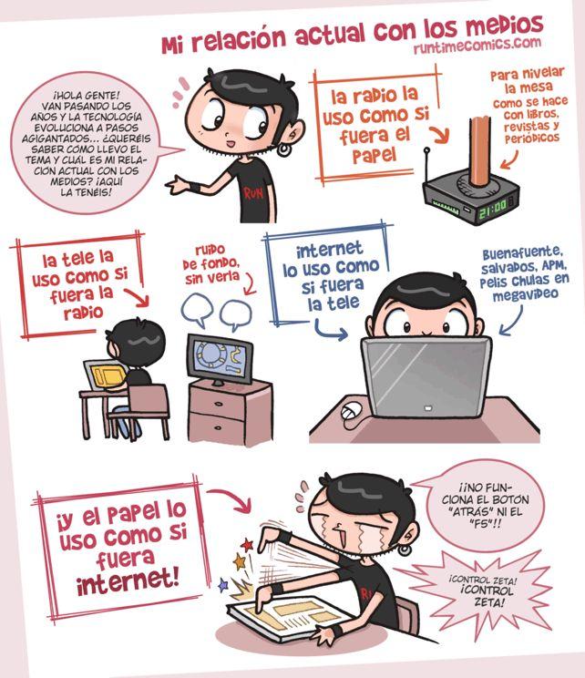 Mi relacion con los medios by runtimecomics via Aprende español callejeando por Madrid http://palabraspormadrid.blogspot.com.es/2012/11/como-si-subjuntivo.html