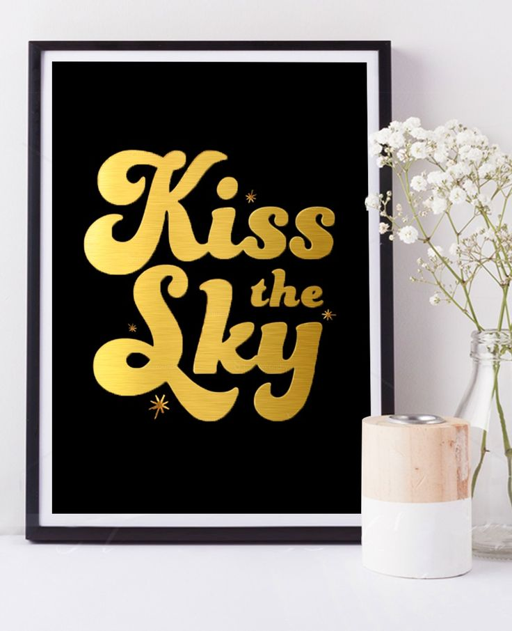 Kiss The Sky - Limited Edition Gold Foil Print    Hunters