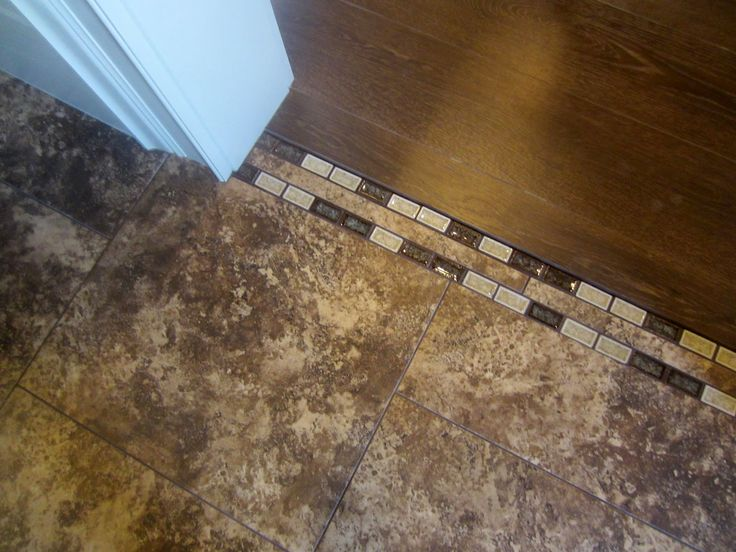 tile transition to wood. I would need different colors but its still neat.