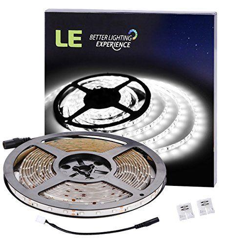 LE 5M Bande LED 2835 SMD 300 LEDs, Ruban Flexible 4,8W 12V 300lm/M, Imperméable IP65, 6000K Lumière Blanche du Jour, Bandes de Lumière,…