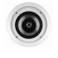 Infinity CS80R 2 Way In Ceilin 8IN Woofer 1IN Tweeter (Sold Each). The CS80R is a round 2-way in-ceiling speaker for use in a wide variety of applications, from stereo and whole-house music systems to complete home theaters. The CS80R incorporates a pivoting tweeter that allows you to aim the tweeter towards the listening area for great sound anywhere in the room. The white grilles and frames are paintable and allow the speakers to blend into any decor.