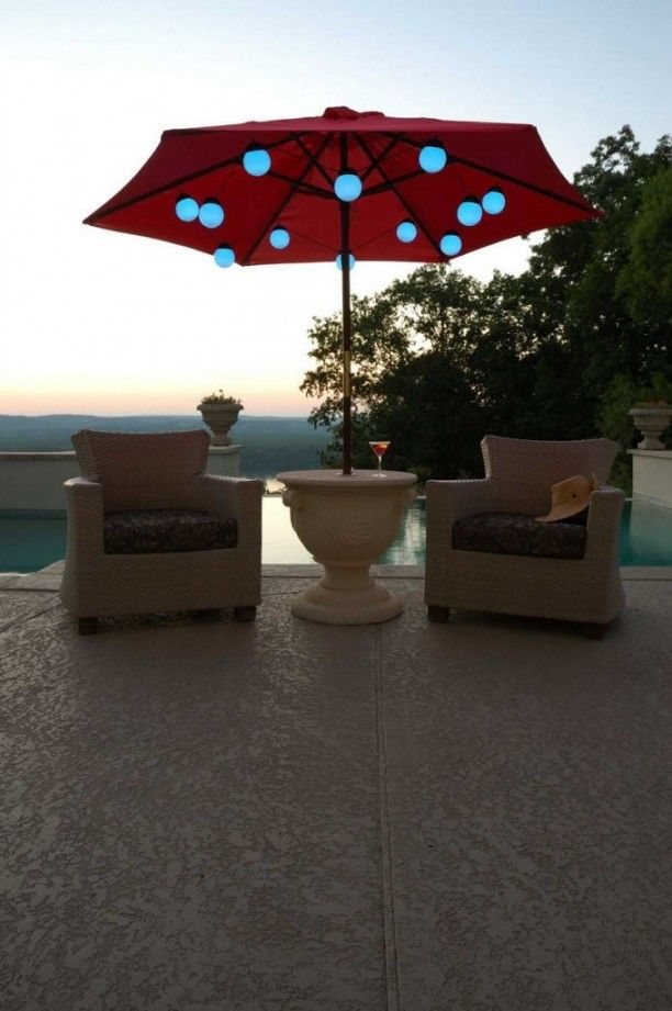 78 Best Ideas About Patio Umbrella Lights On Pinterest
