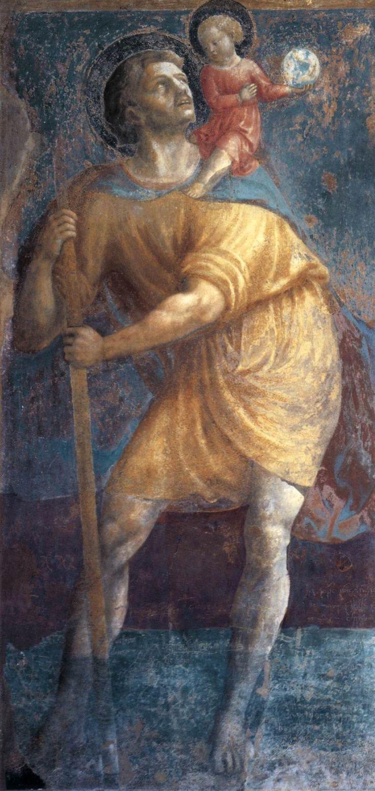 MASOLINO da Panicale St Christopher 1425-31 Fresco Castiglione Chapel, San Clemente, Rome