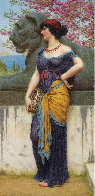 Sotheby's Victorian & Edwardian Art - John William Godward - 'In the Grove of the Temple of Isis' 1915