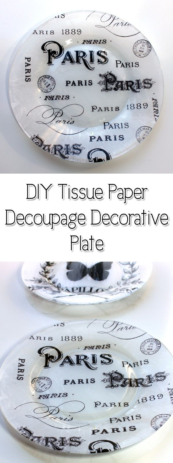 DIY Tissue Paper Decoupage Decorative Plate! - The Graphics Fairy