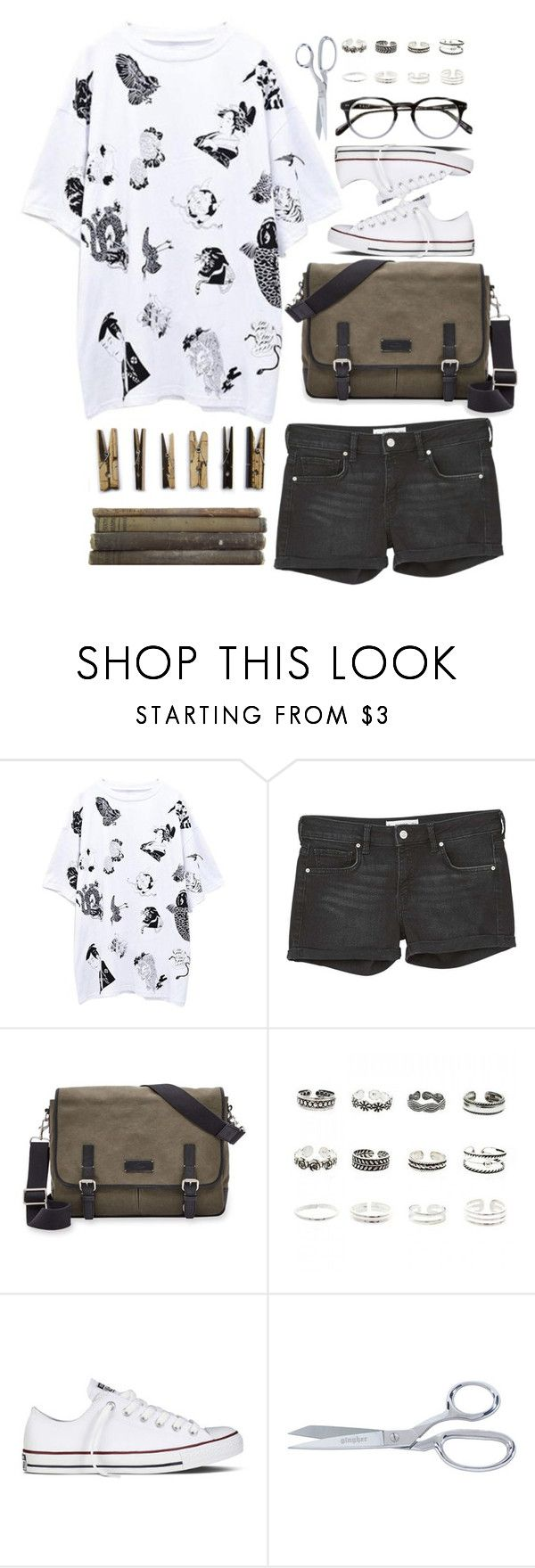 """""""Summer Shorts"""" by la-lunar-eclipse on Polyvore featuring MANGO, FOSSIL, Laundry, Retrò and Converse"""