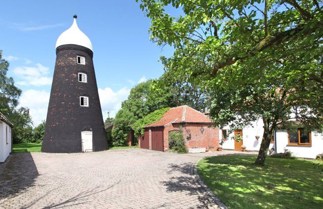 Amazing windmill homes for sale [This mill is for sale in Lincolnshire (Humberts)]