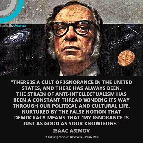 Isaac Asimov - A cult of ignorance