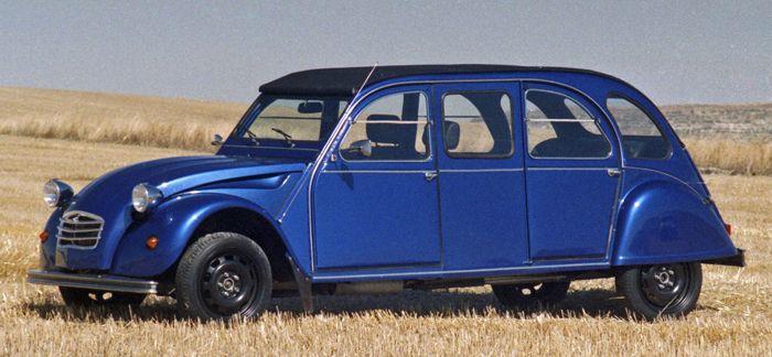 Citroën Hoffmann 2CV Limousine (60cm plus long qu'habituellement, avec chassis en inox)
