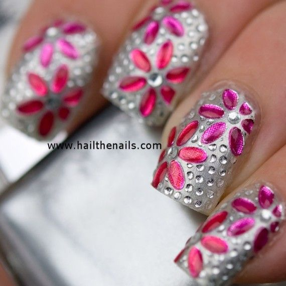 Flower Nails Nails And Flower On Pinterest