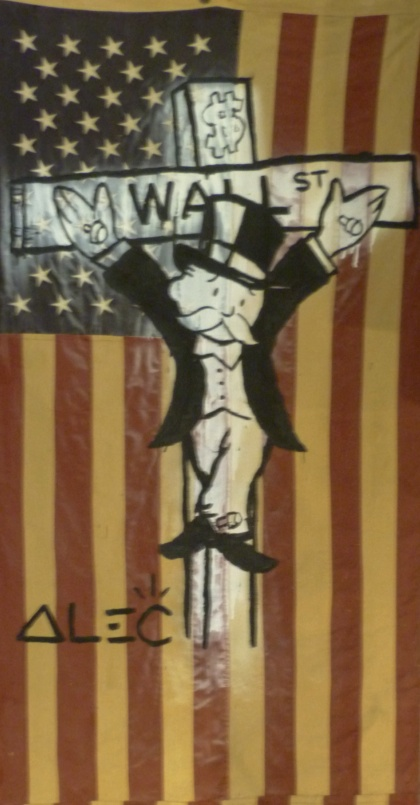 ALEC MONOPOLY  US Flag Wall ST