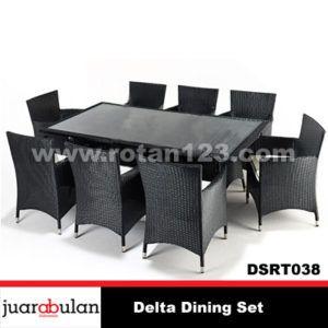 Delta Dining Set Meja Makan Rotan Sintetis DSRT038