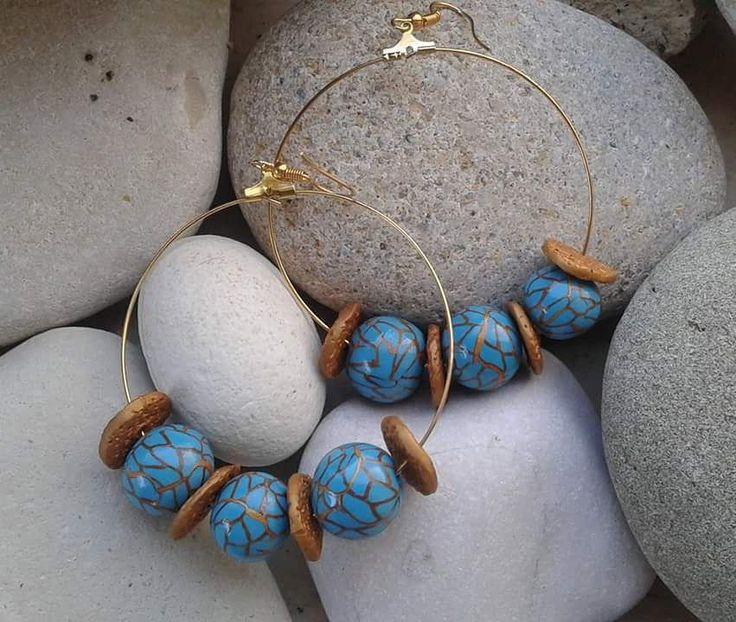 #earrings #hooks#polymerclayjewellery #polymerclaybeads#turqoiseandgold#womenswear #younikeacessorios #uniquejewelry #inkrediblepolymer #instajewellery #acessoriosfemininos #summerjewelry #greeksummer #greekjewelry #greekartist #handmadejewellery #madeingreece #mepolymeraki