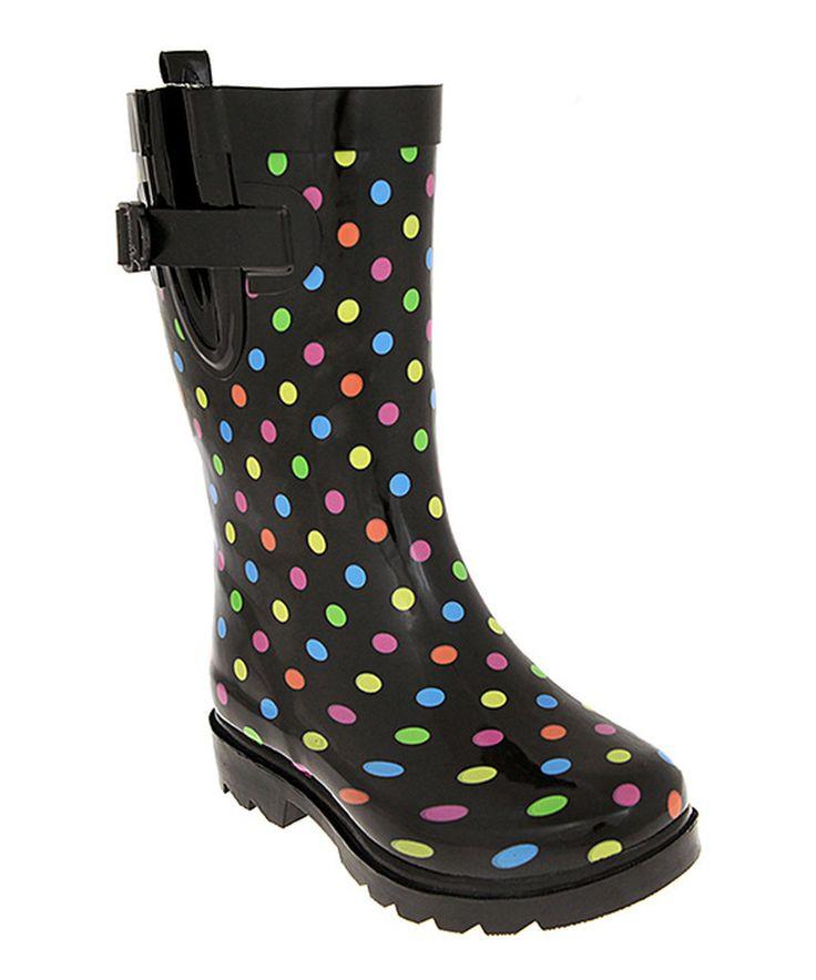 Polka Rainbow Boots Dot Rain