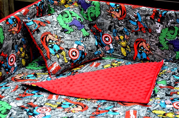 custom comic bedding set — crib, toddler, twin, queen, king   baby