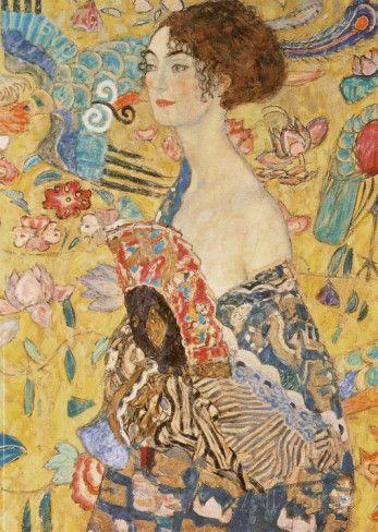 Lady with a Fan Art Print