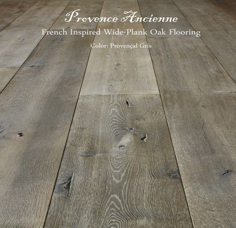 Provence Ancienne Wide Plank French Inspired Oak Flooring manufactured in our facility by Pavé Tile.  Artistry, utmost quality - hand crafte...