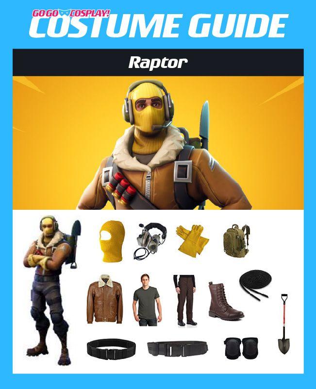 Raptor Fortnite Costume Diy Cosplay W Ski Mask Headset Jacket