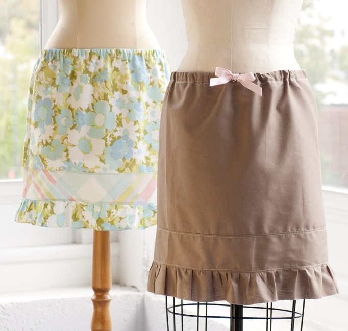 Pillow case skirt for Delaney and Finley.