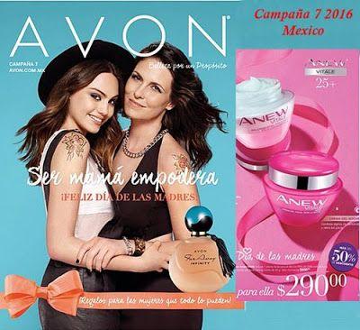 Catalogo de Cosmeticos Avon campaña 7 2016. Ser Mamá empodera