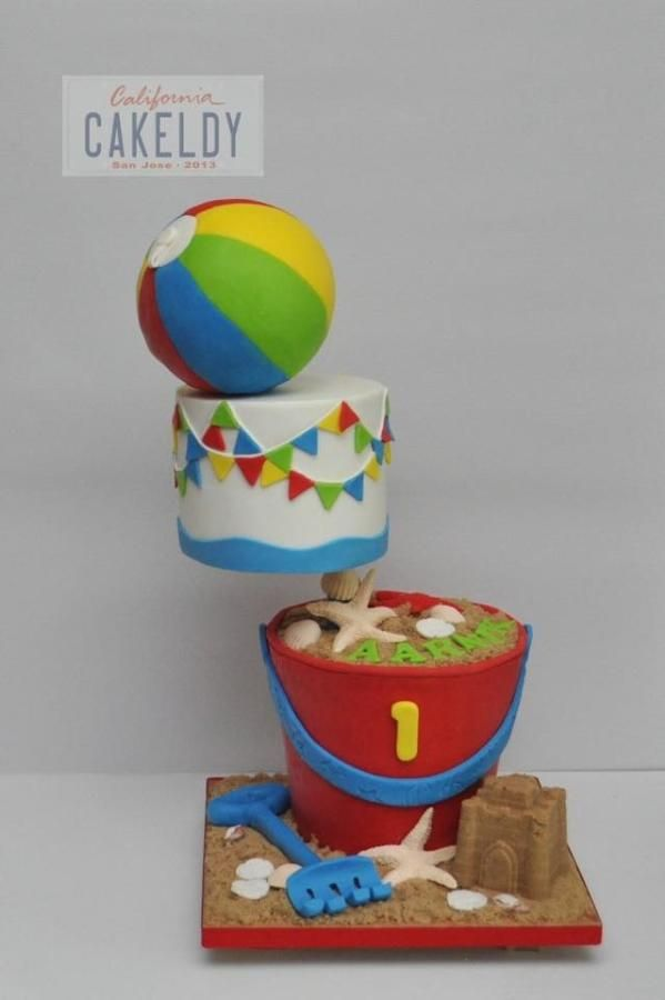 Beach ball cake - Cake by thecakeldy