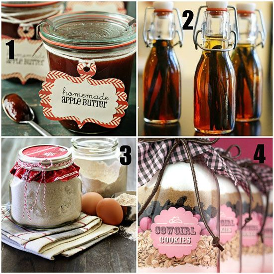16 {Homemade} Gifts in a Jar