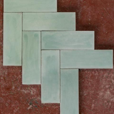 Green Herringbone Tile | Bert & May