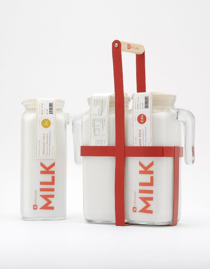 Unique Packaging Design on the Internet, Kirkland Milk #packagingdesign #packaging #design