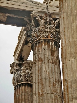 Detail from the Temple of Olympian Zeus. (Walking Athens, Route 05 - Lower Plaka)