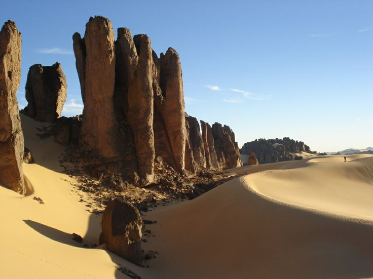 Algerian desert: never climb those with bear feet: you'd be bleeding all over the place. Been there,  done that.