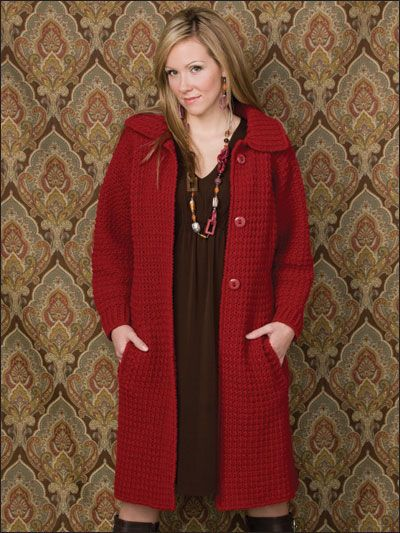 Textured Topper Coat / Crochet Pattern