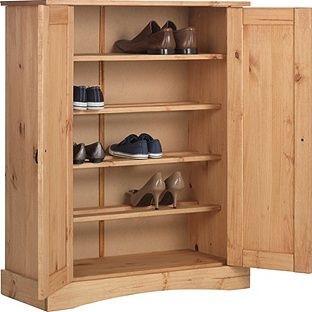 Buy Collection Puerto Rico 2 Dr Shoe Cabinet-Solid Antique Pine at Argos.co.uk - Your Online Shop for Shoe storage.
