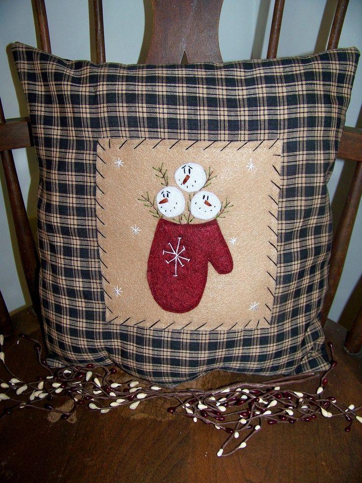 snowman pillow project | Primitive Snowman Crafts | Primitive Snowman Pillow | Craft projects