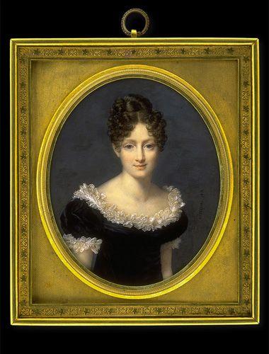 Nicolas Jacques, Lady in Black Dress with White Frills, 1818 - noch mehr Miniaturen auf der Seite