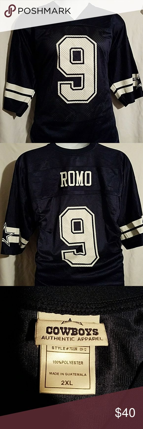 Authentic plus size Romo jersey 2xl Dallas cowboys Room jersey front has #9 back has #9 and Room purchased from Dallas cowboys shop dallas cowboys Tops Muscle Tees