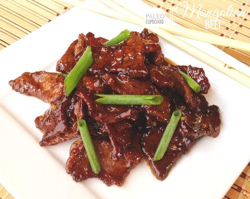Paleo Mongolian Beef by paleocupboard.com