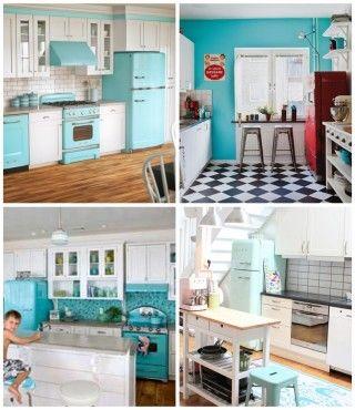 Kuchyňská linka v retro stylu