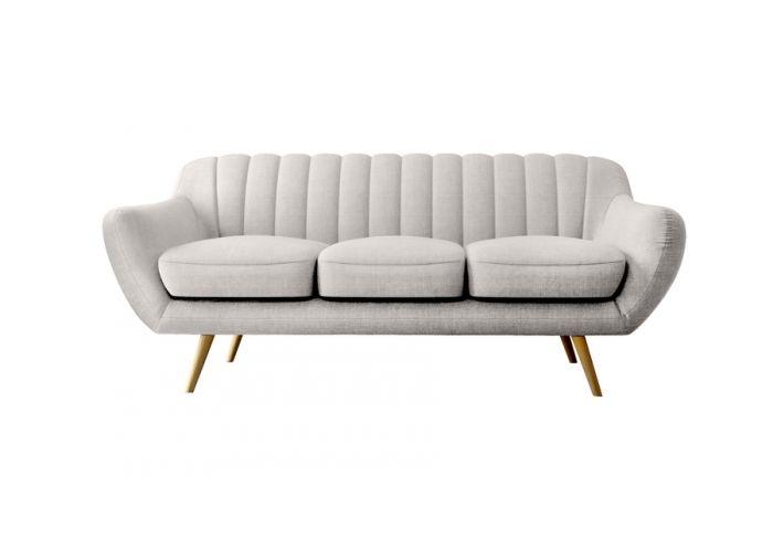 Canap 3 places vintage pieds coniques meubles for Canape bleu indigo